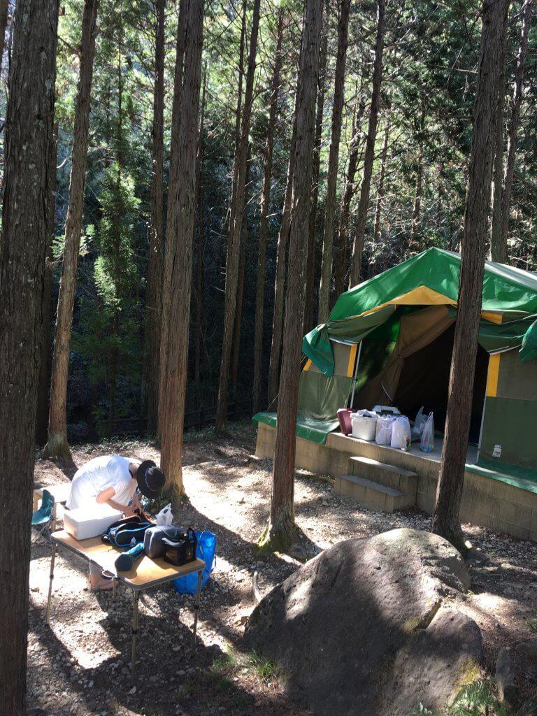 やしろ鴨川の郷常設テント